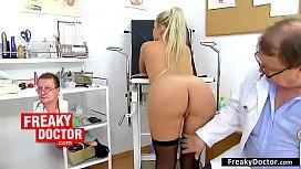 Stockings redhead slut receives...