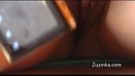 Czech girl touches herself...