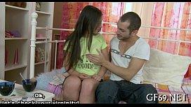Virgin babe receives lusty...