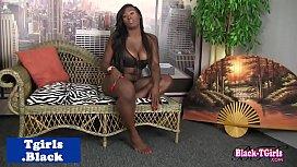 Busty Ebony goddess in...
