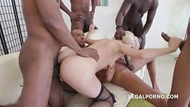 5on1 gangbang - Bree Haze begs for an extra deep interracial double anal tvn.hu nude
