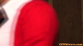 CFNM Alexis Rose tugging...