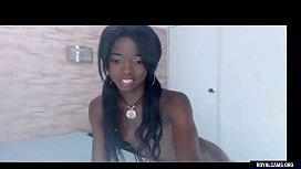 Flat Chested Ebony Teen...