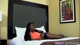 Ebony honey gets facial...