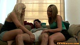 Euro CFNM blondes sucking...