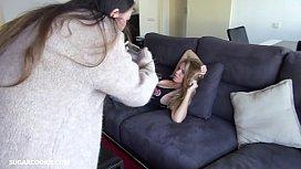 Blonde teen yoga instructor...