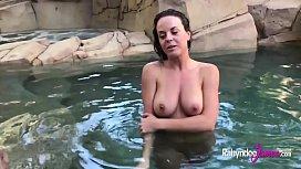 Rahyndee backyard pool side...