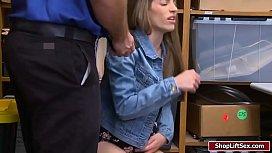LP officer destroys shoplifter...