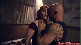 Ginger bondage sub frogtied...