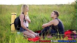 Sperm sprayed dutch teen...