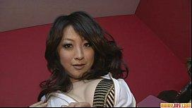 Brunette Asian girl Asuka...
