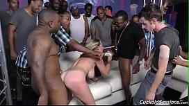 Brooke Wylde gets gangbanged...