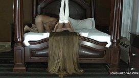Longhaired blonde milf wearing...