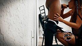 Jasmine - Amazing Sloppy Blowjob Behind The Scenes -MaxThePornGuy