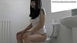 Black hair girl pooping...
