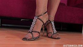 DANICA COLLINS - FOOT WORSHIP...