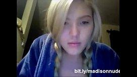 German blonde Madison is...