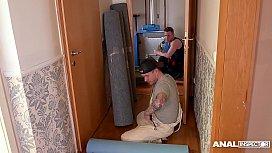 Anal inspectors wanna stuff Samanta Blaze'_s tight Milf ass in the hallway