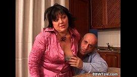 Mature couple is having...