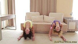 Skinny flexible girlfriend gymnasts...