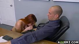 Busty redhead Skyla Novea...