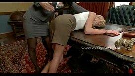 Brunette mistress takes blonde...