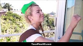 Cute Teen Girl Scout...
