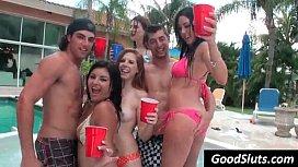 Slut party in garden...