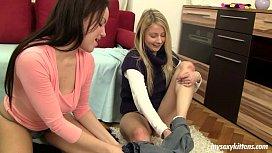 Chesty lesbian teens Lara...