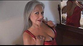 Attractive bust granny in...