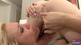 SEXYMOMMA - Busty milf Ava Delane seduces her stepdaughter