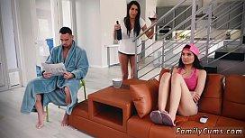 Teen moaning hard Family...
