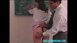 Teacher spanking 18yo schoolgirl...