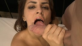 Amazing brunette Bella Luciano...