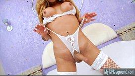 Busty blonde shemale Sheylla...