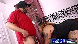 Ebony Slut sucks out...