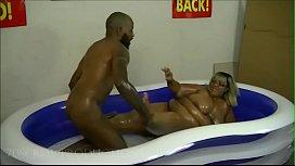 Sexy BBW Oil wrestling...