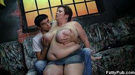 Hot fat lady enjoys...