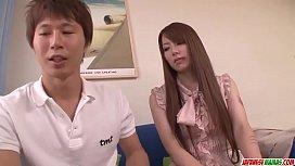 Busty Yui Hatano leads...