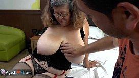 Agedlove granny with big tits banged