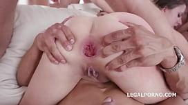 10 on 1 Gang Bang for ultra slut Gabriella Lati   10 Swallows! - miss missa x