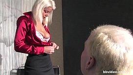 Blonde German mature slut...
