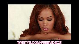 Beautiful Ebony bombshell teases...