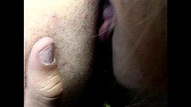 Brunette Fingering and Shemale...