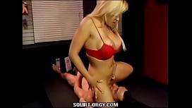 Blonde Babe Squirt Train...