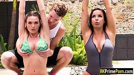 Busty milfs Dana and Krissy amazing 3way