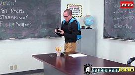 Busty MILF Teacher Fucks...