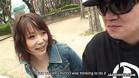 Asian teen talked into sucking a rock hard phallus