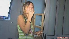 Teenage girl in her...
