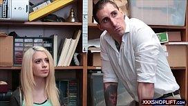 Blonde teen shoplifter gets...